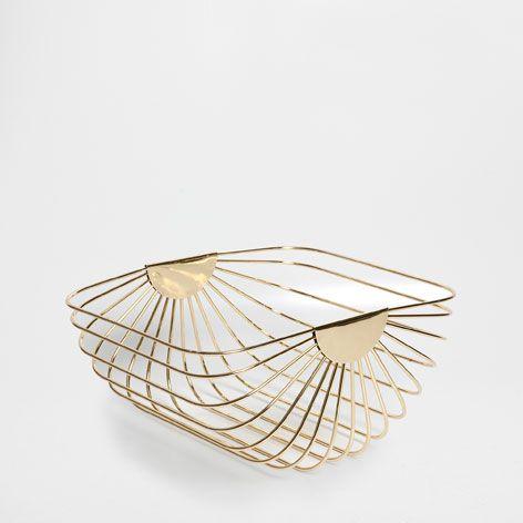 Metal Fruit Bowl Baskets Hampers Decor And Pillows Zara