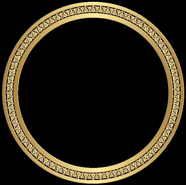 Round Border Frame Gold Clip Art Image Fondo de pantalla
