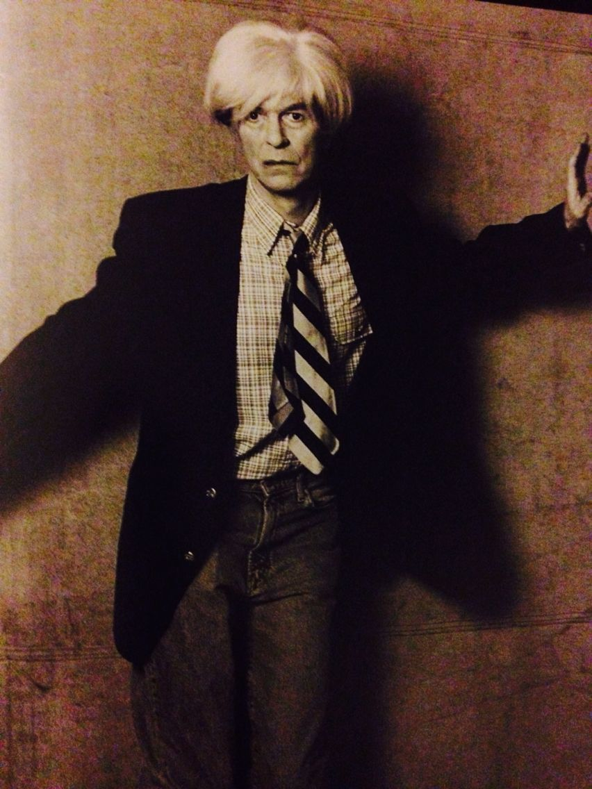 David Bowie as Warhol for the movie Warhol / Basquiat