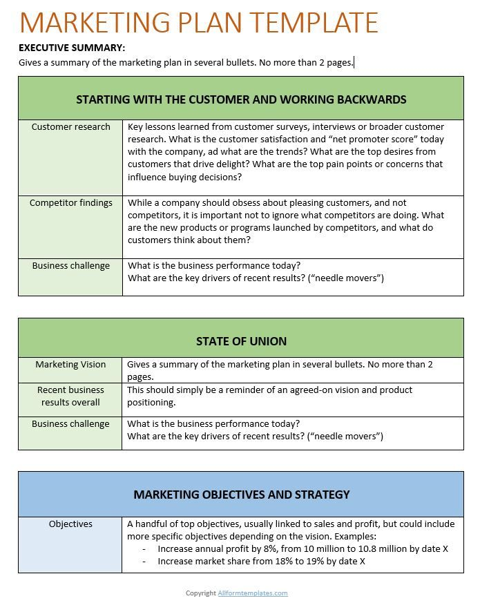 Marketing Plan Templates 20 Formats Examples And Complete Guide In 2021 Marketing Plan Template Marketing Plan Small Business Marketing Plan