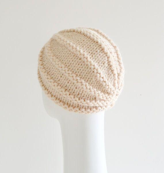 Turbante de lana grueso turbante sombrero sombrero de por MaraArber ...