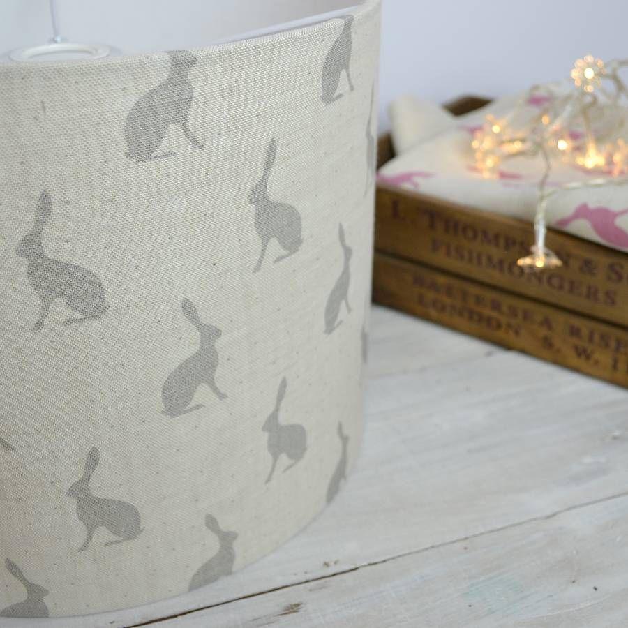 Grey Hares Handmade Lampshade