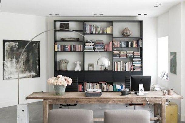 werkkamer/eetkamer, ontwerp Piet-Jan van den Kommer. Door Astrid