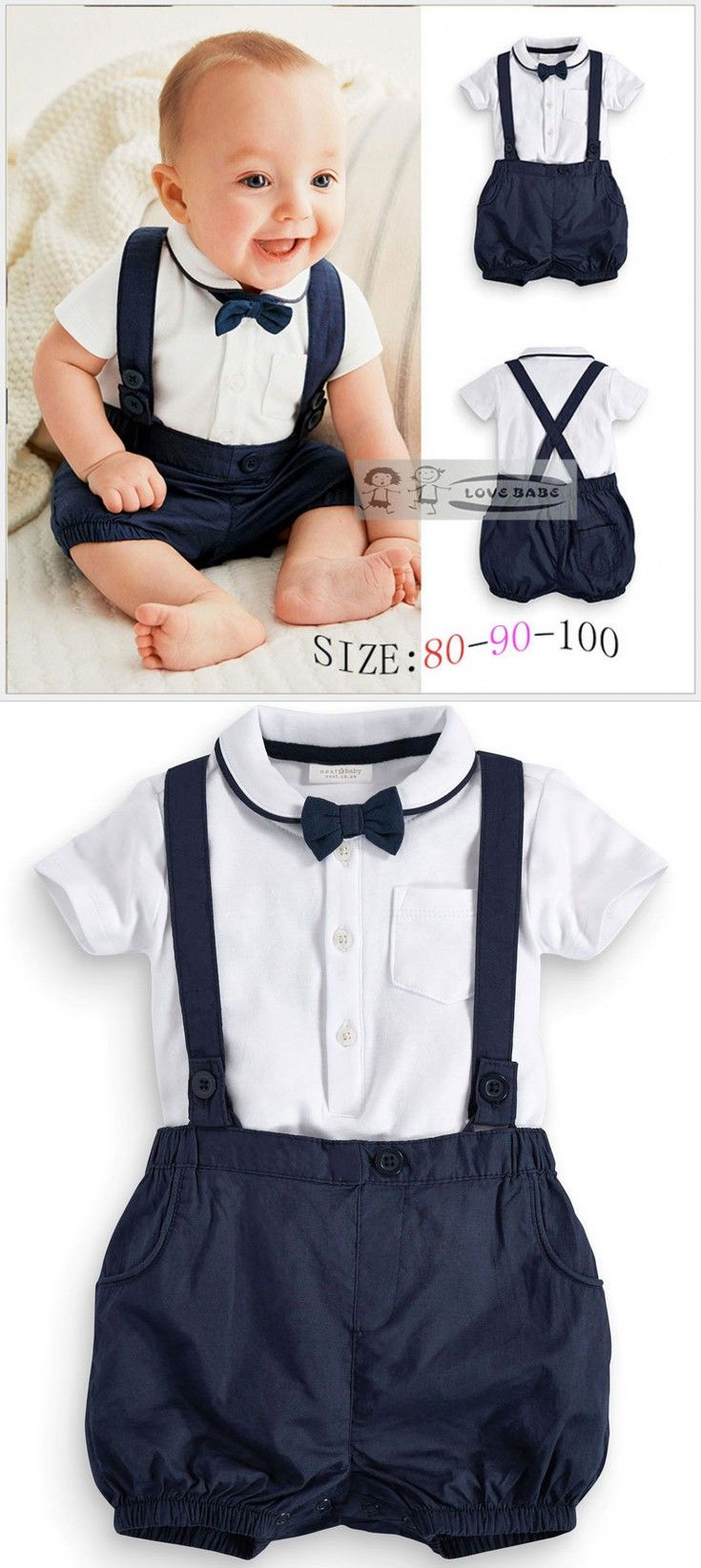 f08ae0b53e05 Summer Baby Clothing Cotton 2pcs Suit Short Infant Boy Gentleman ...