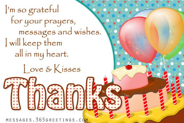 Birthday Thank You Messages Thank You for Birthday Wishes – Greeting Words for Birthday Wishes