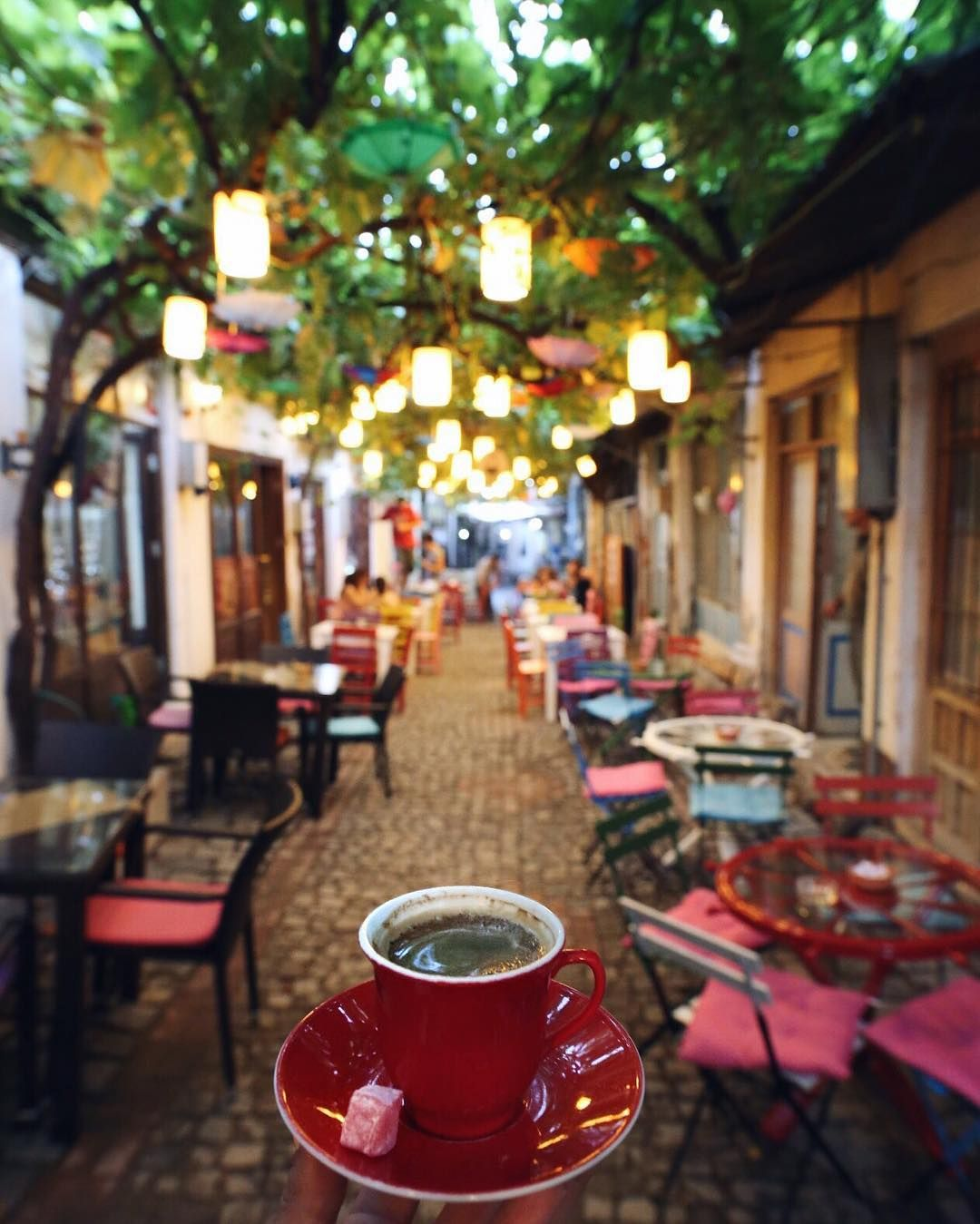 ☕️ a glass of delicious turkish tea place selfie cafe