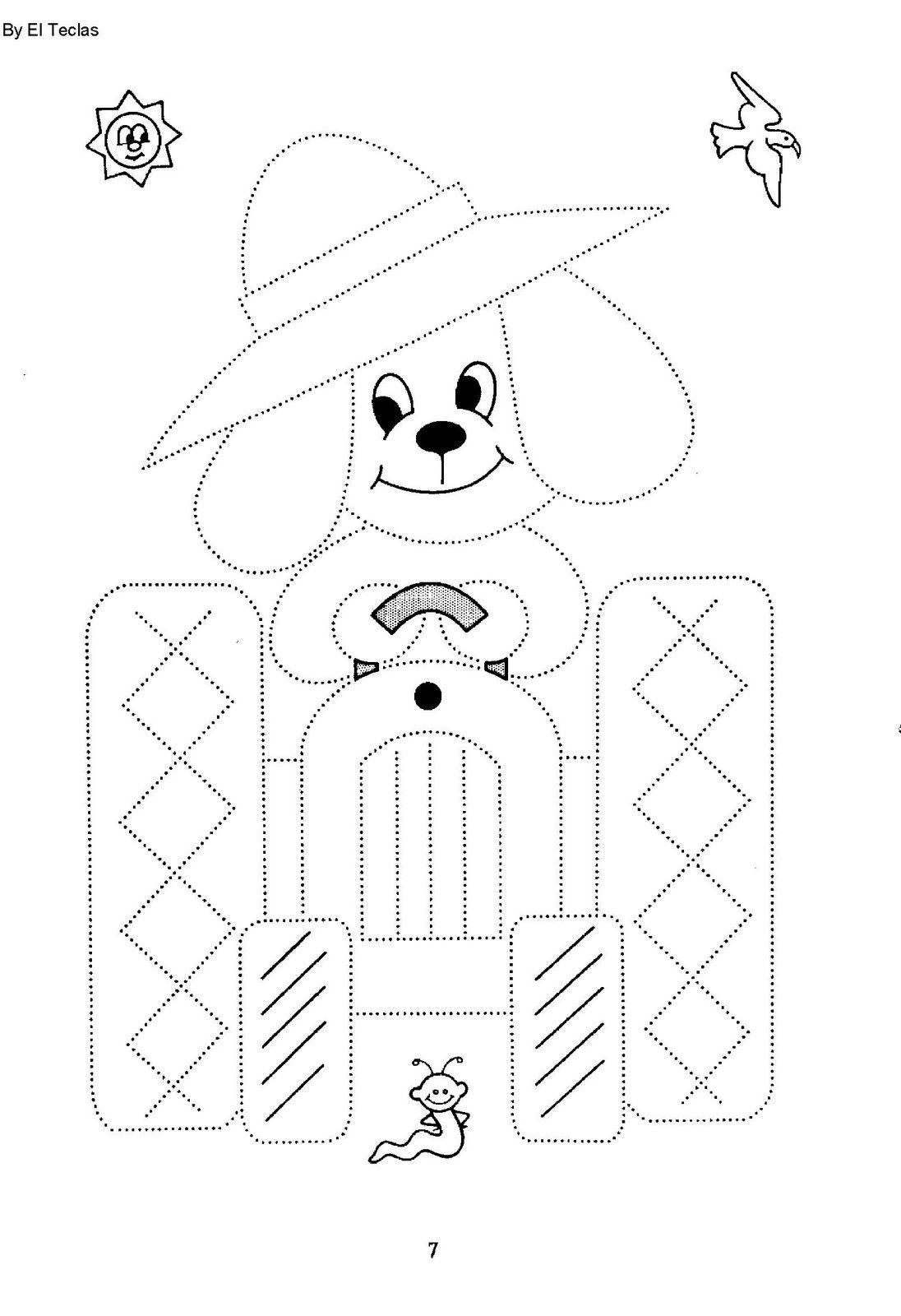 Dibujos Para Colorear Y Practicar La Caligrafia Uniendo Puntos Actividades Para Ninos Preescolar Grafomotricidad Ninos De Preescolar
