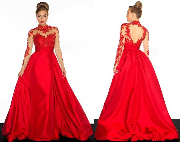 Red Prom Dress Sweetheart a Line