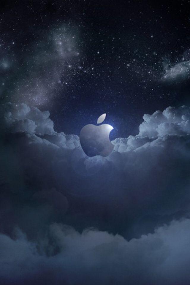 Wallpaper for iPhone Apple Dark Sky Apple logo wallpaper
