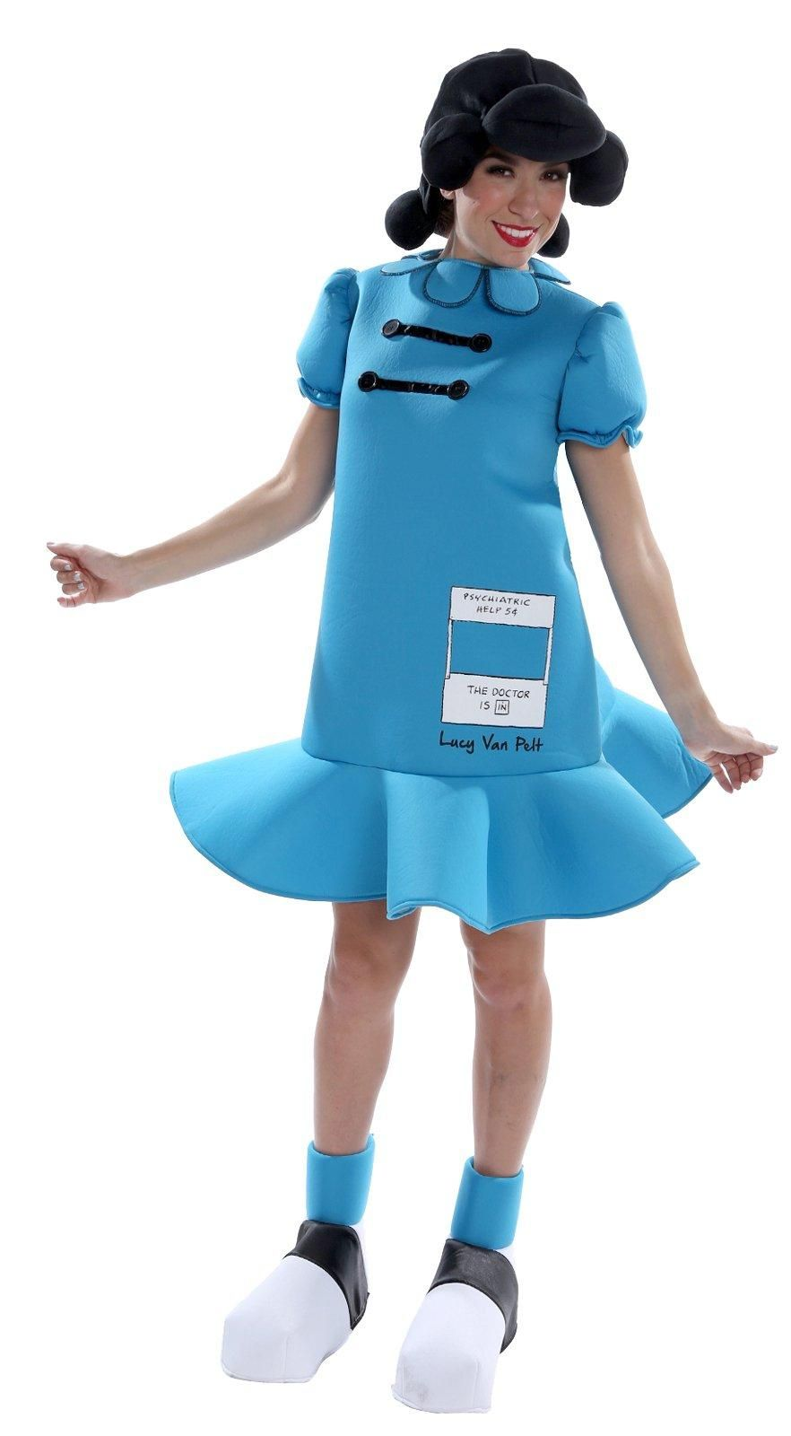 peanuts: deluxe lucy costume for adults from costumeexpress