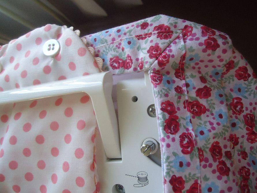Capa para máquina de costura - detalhe canto mitrado