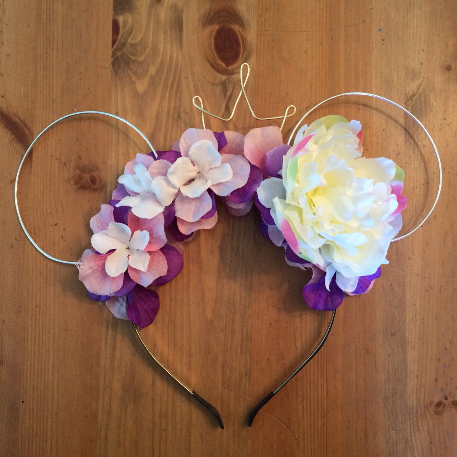 Wire mouse ears rapunzel ears wire ear headband flower headband a personal favorite from my etsy shop httpsetsy izmirmasajfo Images