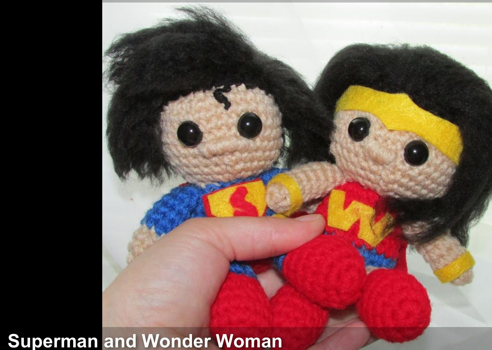Amigurumi Wonder Woman : Superman & Wonder Woman Crochet amigurumi Pinterest ...