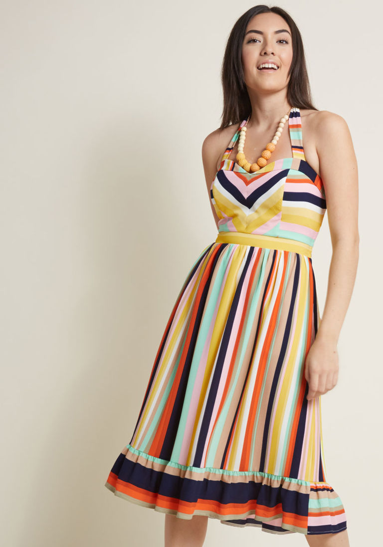 Frequently Piquant Halter Dress in XXS | Products | Dresses