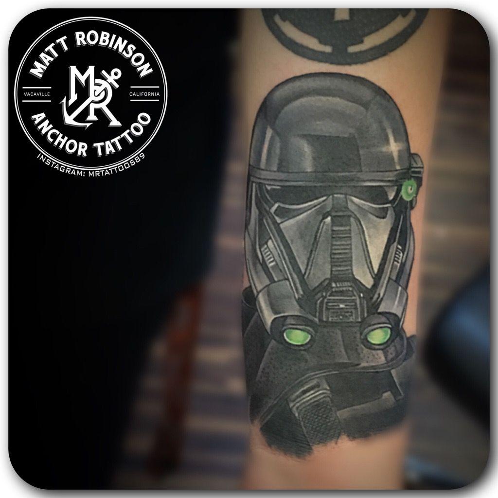 Death Star Tattoo Small: Star Wars Rouge One Death Trooper Tattoo By Matt Robinson