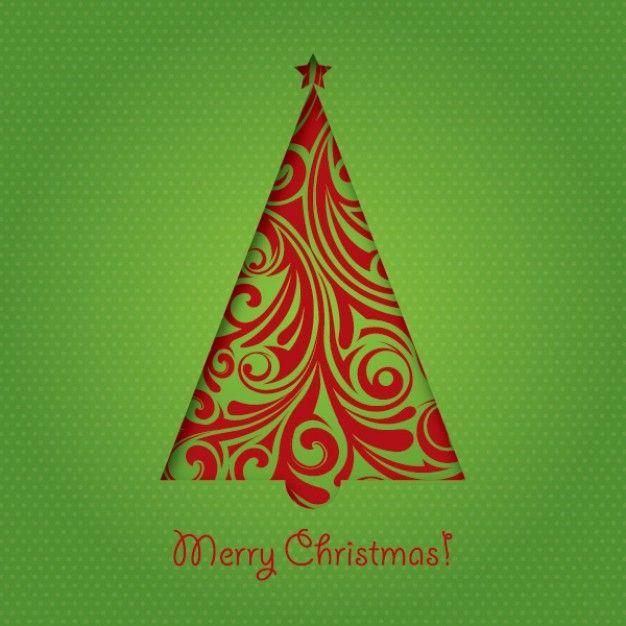 Natal Verde Cartao Resumo Fundo Vetor Ilustração De