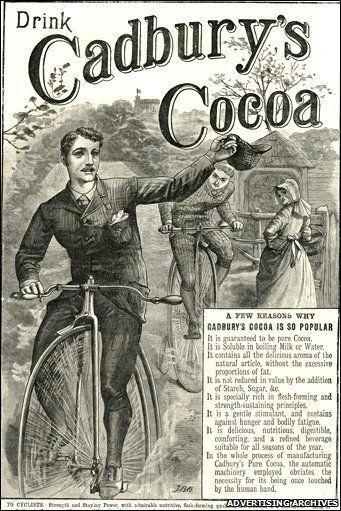 19th Century Advert for Hot Chocolate Powder ~~~ Cadbury ...