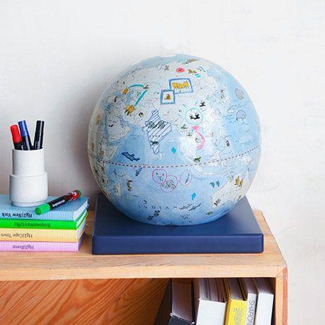Colour In Bimbi Globe By Zoffoli Mappamondi Monoqi Kinder Globe