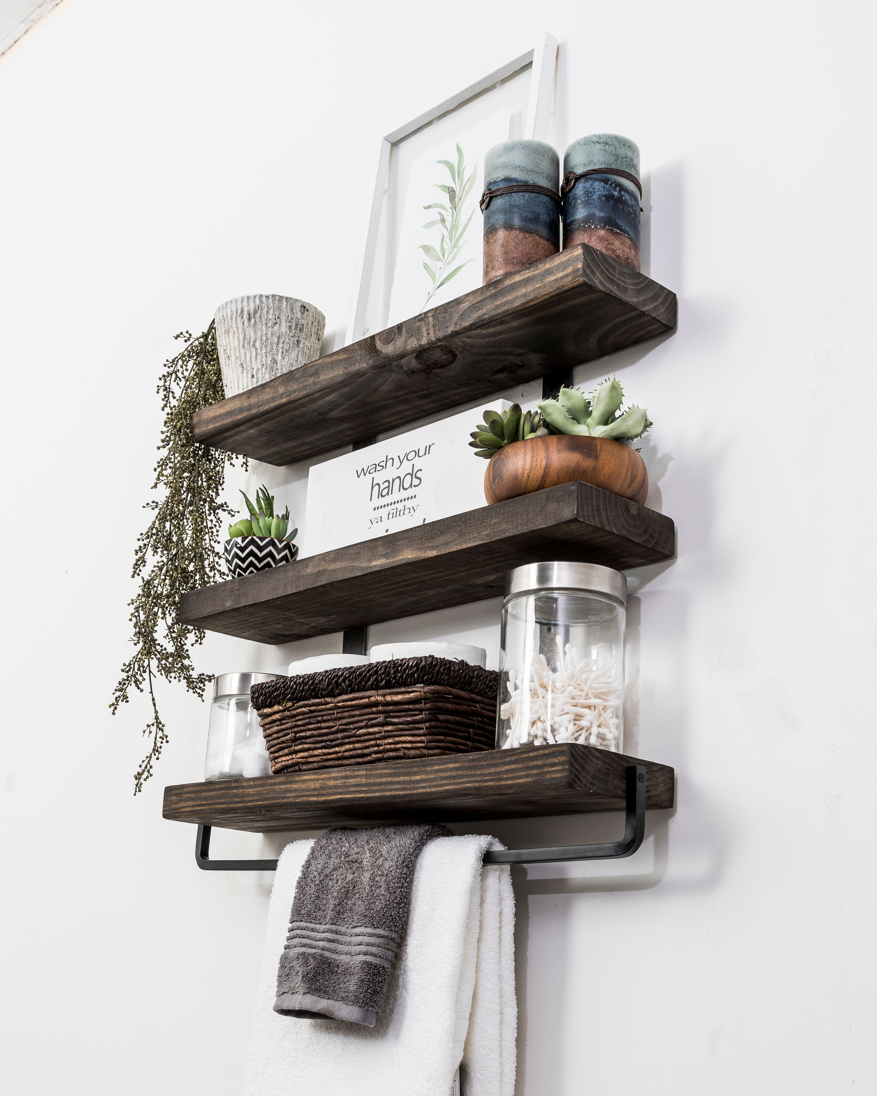 Better Homes And Gardens 24 Black Wall Mounted Floating Shelf