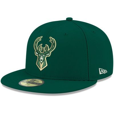 88dc2df92e1 Milwaukee Bucks New Era Official Team Color 59FIFTY Fitted Hat - Green