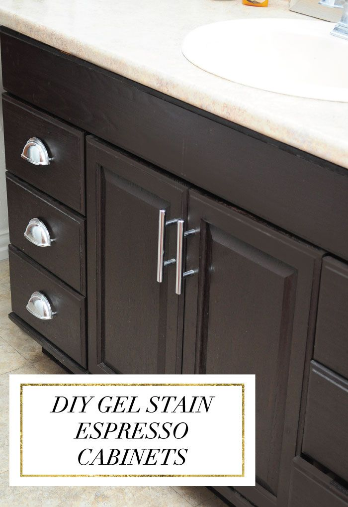 Staining Oak Cabinets an Espresso Color {DIY Tutorial ...