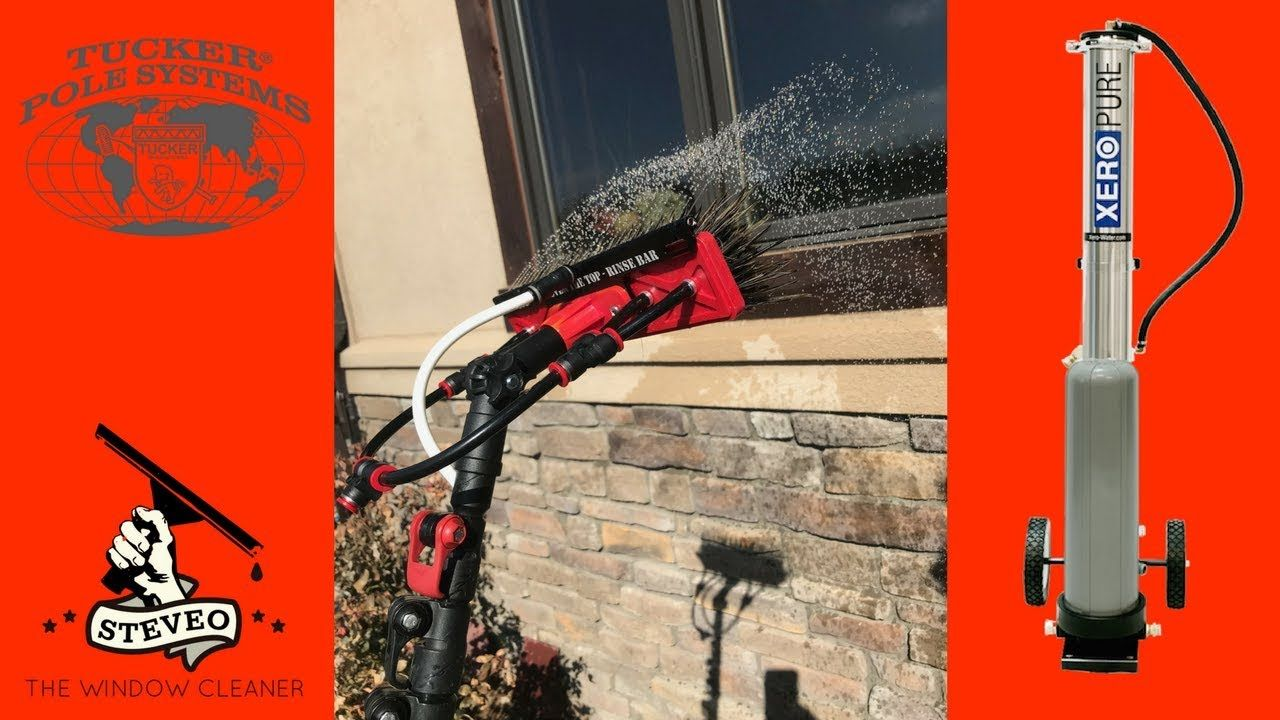 Water Fed Pole Technique Window Cleaning Tucker Xero Pure Window Cleaner Water Fed Pole Window Cleaning Tools