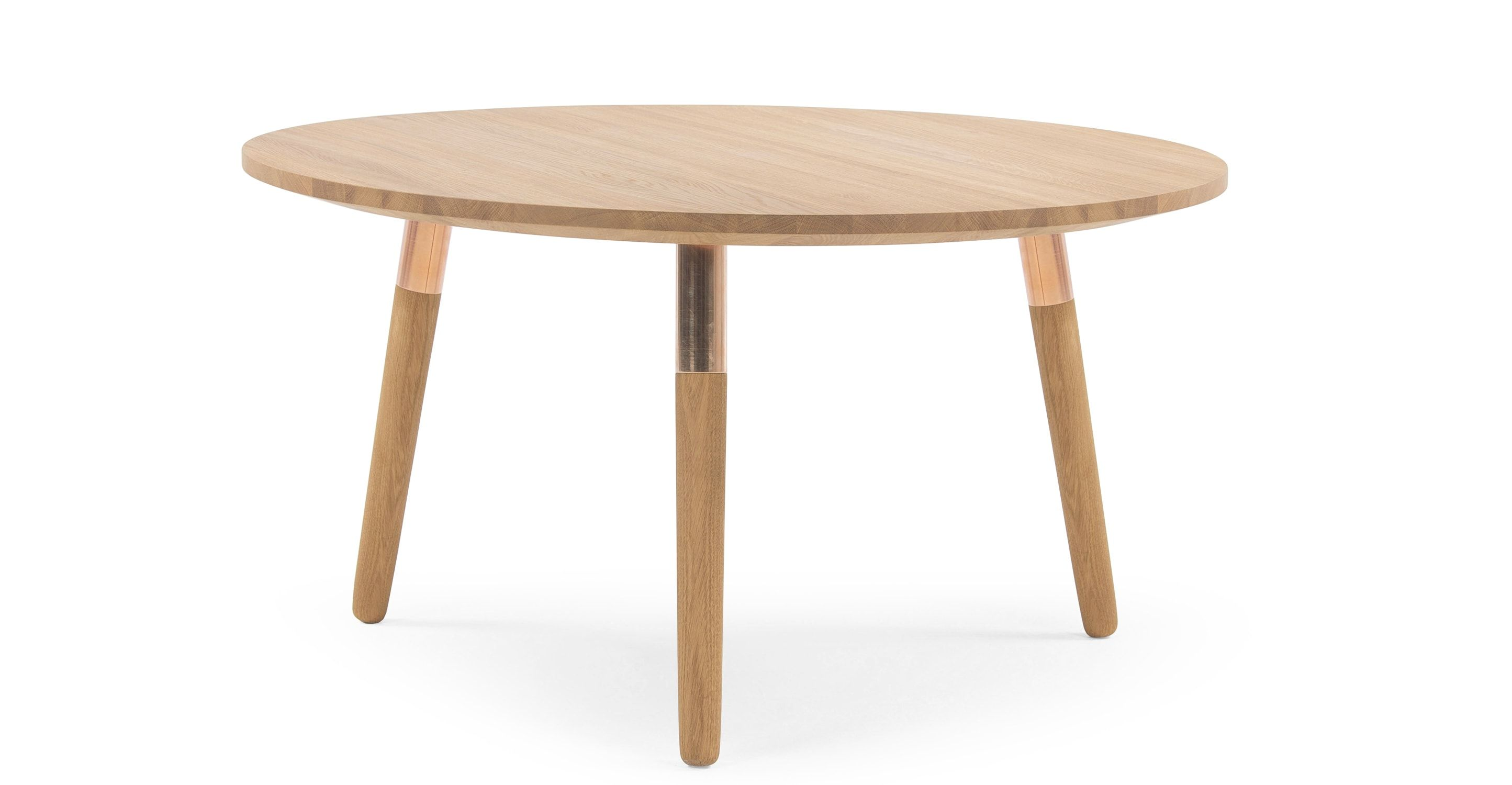 - Range Round Coffee Table, Solid Oak And Copper Round Coffee Table, Brass Coffee  Table, Oak Coffee Table
