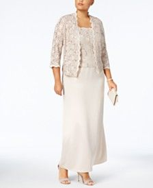Grandmother Of Bride Dresses Macy S Lace Gown Gowns Bride Clothes