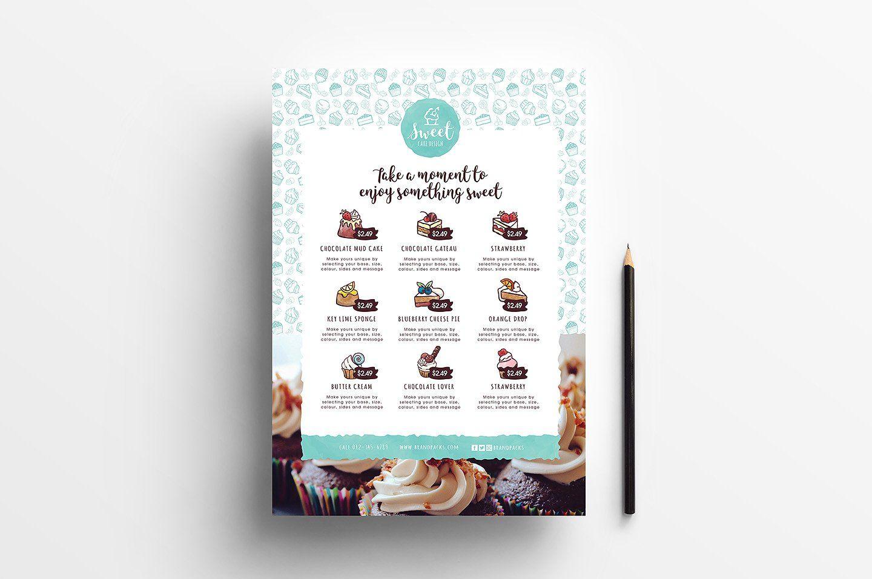 Cake Shop Templates Pack Menu Template Cake Illustration Cake Shop