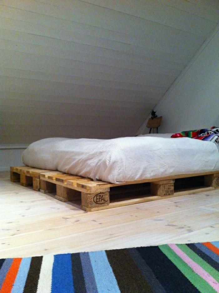 35 fantastische Ideen für Bett aus Paletten Bett aus