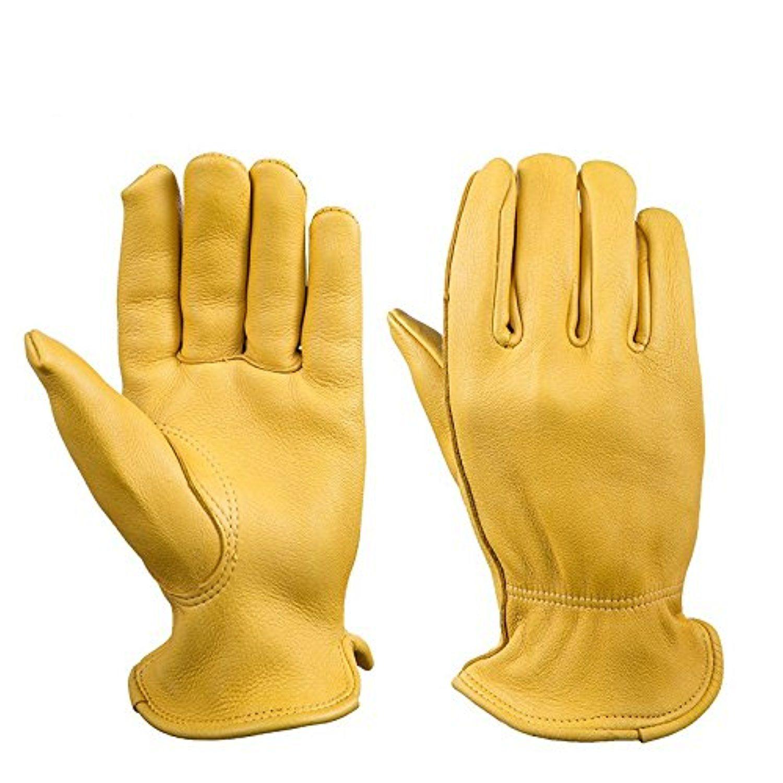 Motorcycle gloves deerskin - Syrinx Pro Grade Collection Premium Deerskin Gloves Outdoor Driving Protection Work Gloves Motorcycle Gloves Yellow