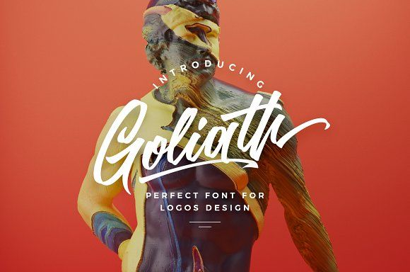 Goliath script font by kavoon on @creativemarket
