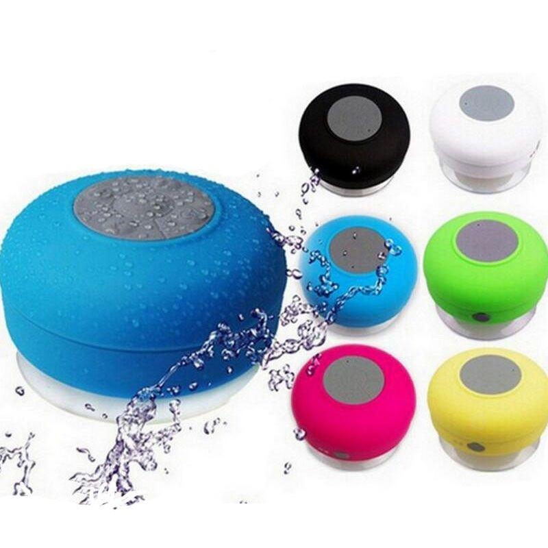 Factory Custom Logo Big Sucker Bathroom Handsfree Call Suction Cup Bluetooth  Speaker Waterproof