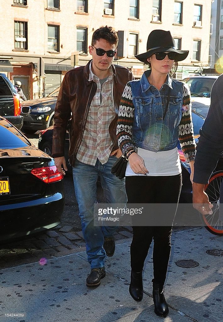 Katy Perry and John Mayer are seen in the Meatpacking District at Streets of Manhattan on October 16, 2012 in New York City.