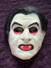 a5853333e33 Plastic Vampire Nosferatu Childs Mask Halloween Costume Vtg 80s ...