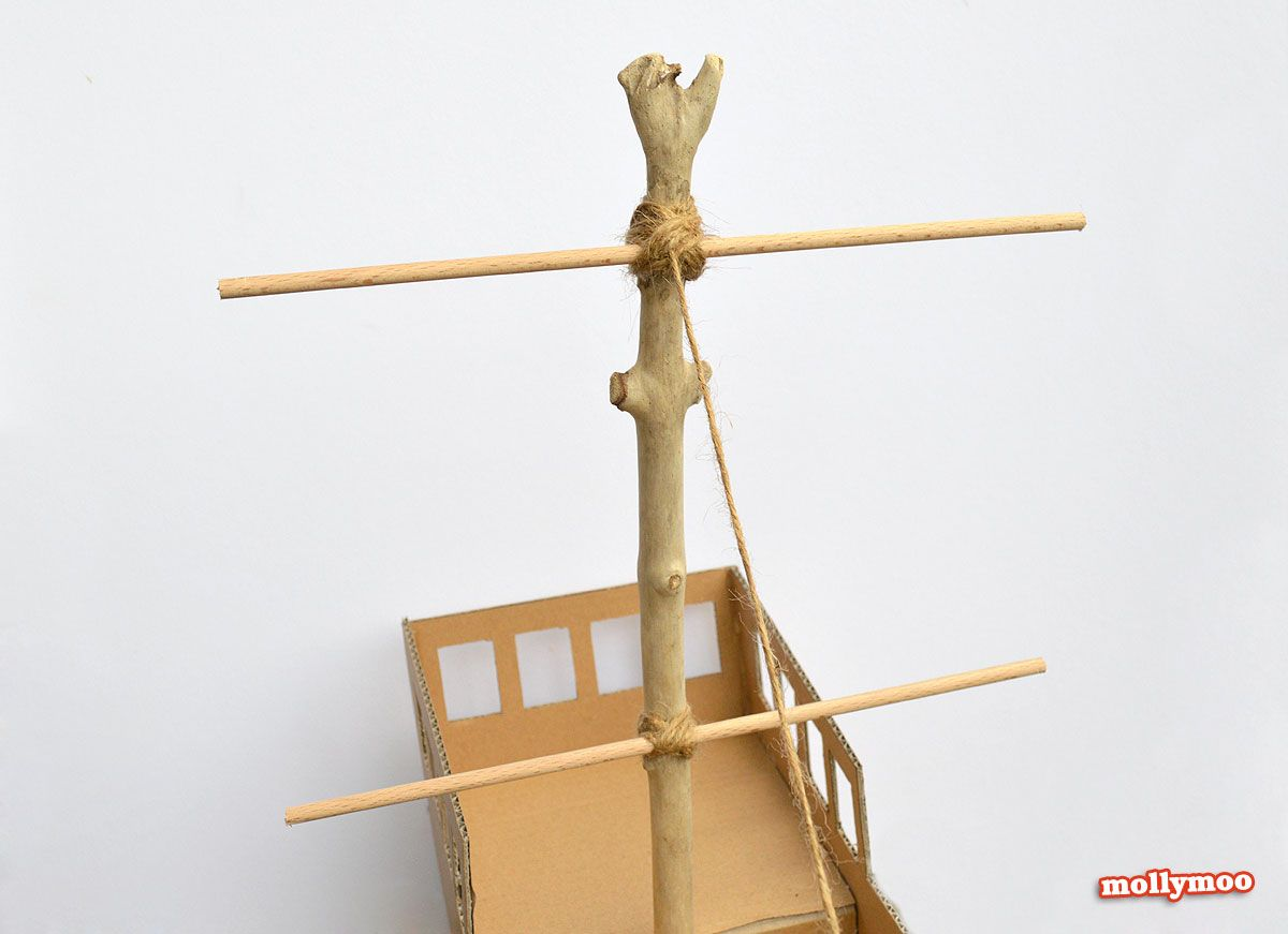 diy-pirate-ship-crossbars.jpg (1200×871) | modelo barco pirata ...