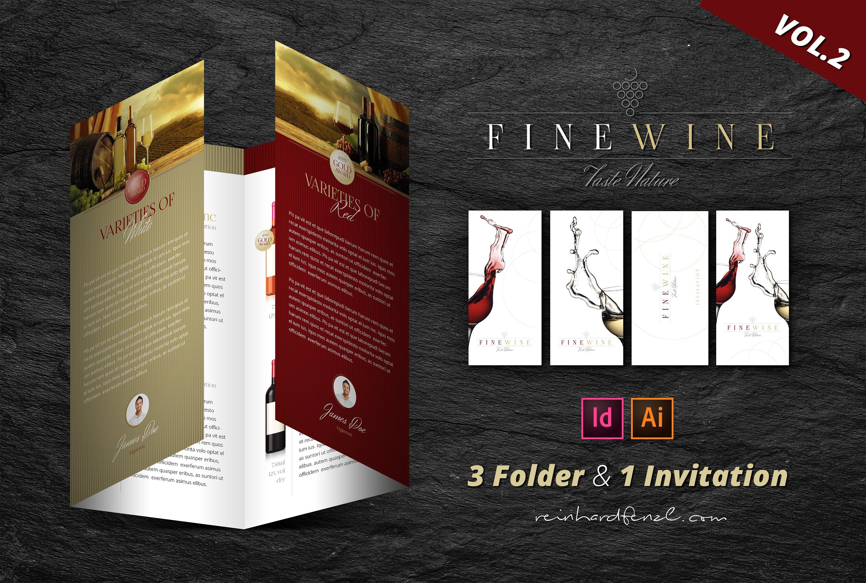 Fine Wine Vol 2 Folder Invitation Folder Invitations Wine Brochures Business Card Texture