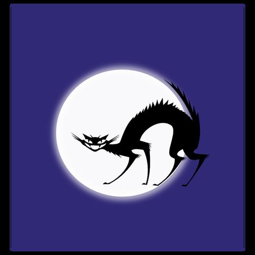 Black cat vector | Public domain vectors