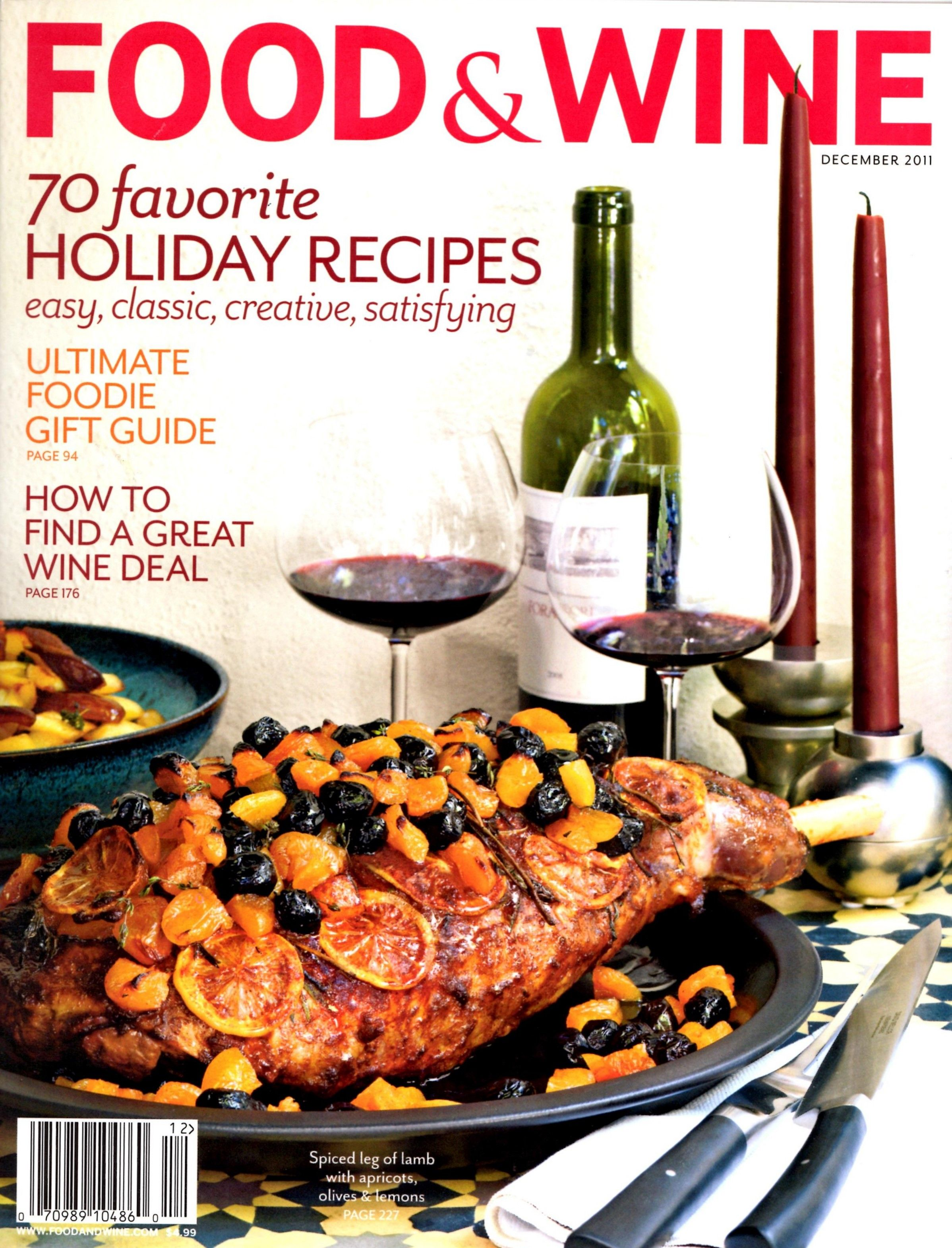 Food wine magazine december cover recipe duvino wine www food wine magazine december 2011 christmas holiday mailed in cardboard forumfinder Choice Image