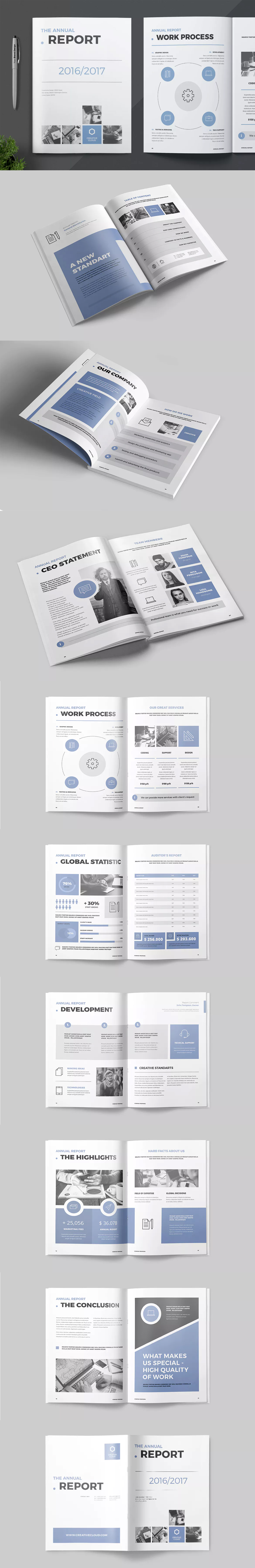 Annual Report Template InDesign INDD A4 Annual