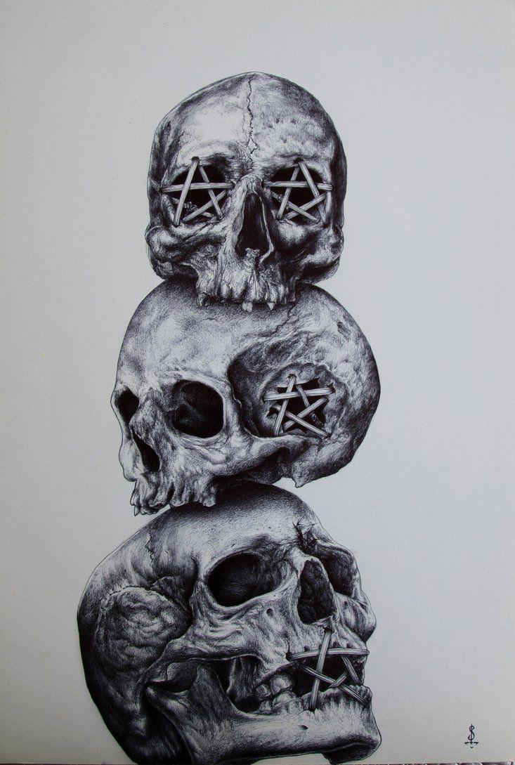 See No Evil Hear No Evil Speak No Evil Twisted Art For Twisted Minds See No Evil Hear No Evil Speak No Evil By Evil Tattoos Evil Skull Tattoo Skulls Drawing