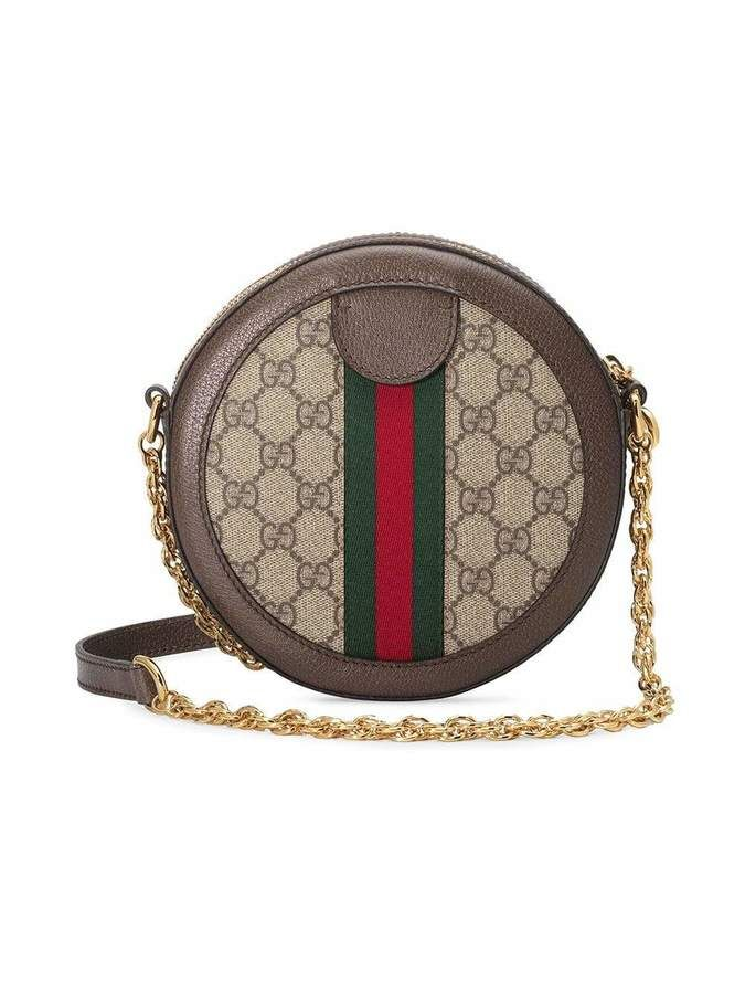 Gucci Ophidia Round Mini GG Canvas Shoulder Bag