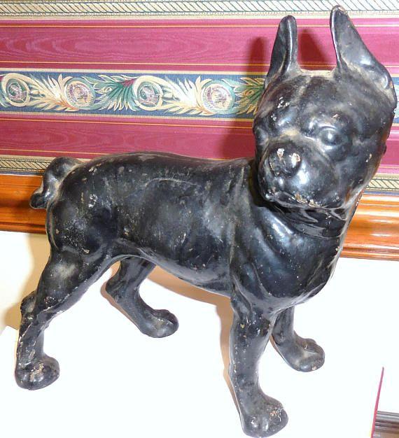 Boston Terrier Cast Iron Door Stop Adorable Dog Door Stop Cast