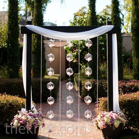 Orchid and Glass Ball Altar Decor - a little more elegant than I was ...