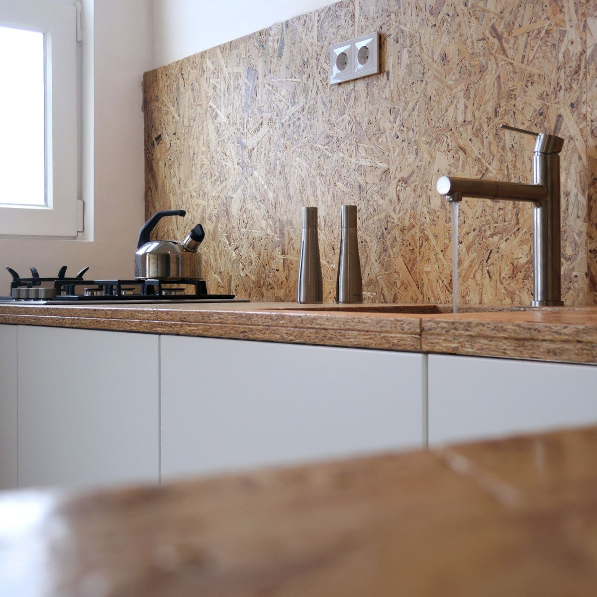 OSB kitchen   studioMERZ   Osb furniture, Plywood kitchen ...