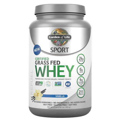 SPORT Certified Grass Fed Whey Vanilla 652 gm Powder