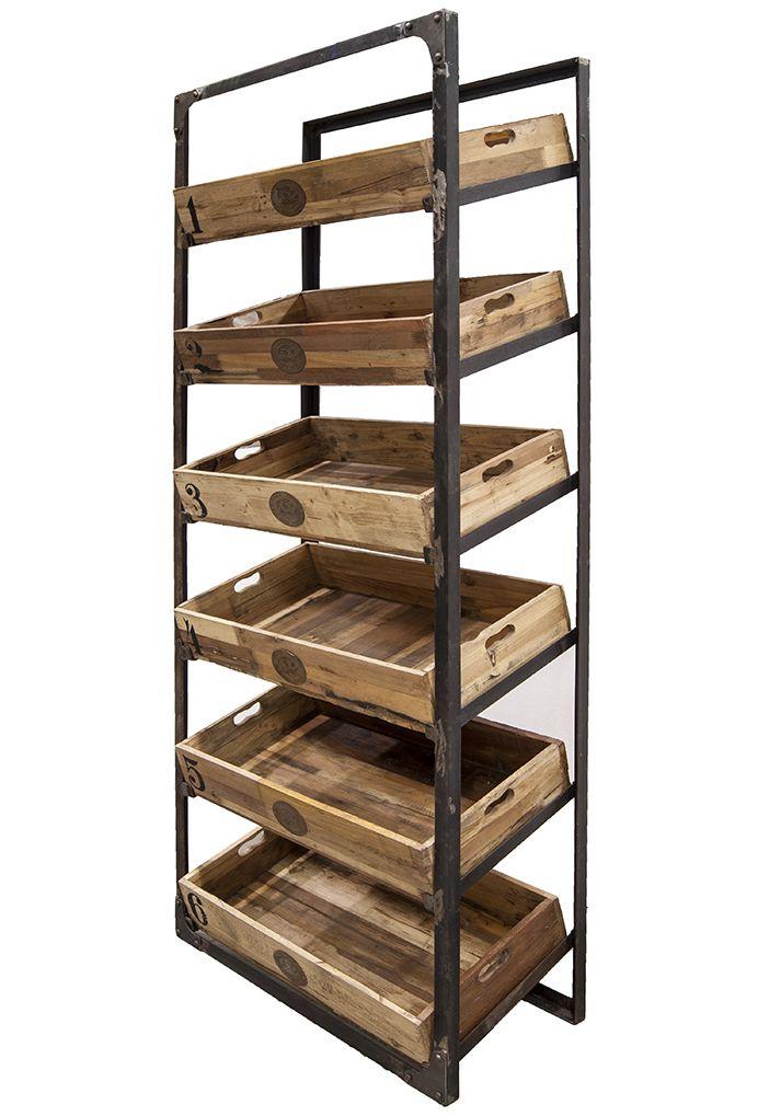 Estanter a expositora de madera mod adela repisas - Madera para estantes ...