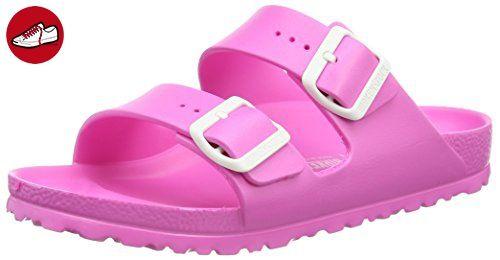 BIRKENSTOCK Classic Arizona Eva, Damen Pantoletten, Pink (Neon Pink), 41 EU