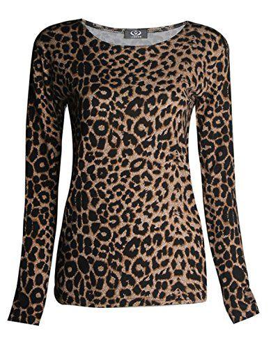 800aa256c4b Girls Walk Women s Plus Size Long Sleeves Leopard Animal ... https