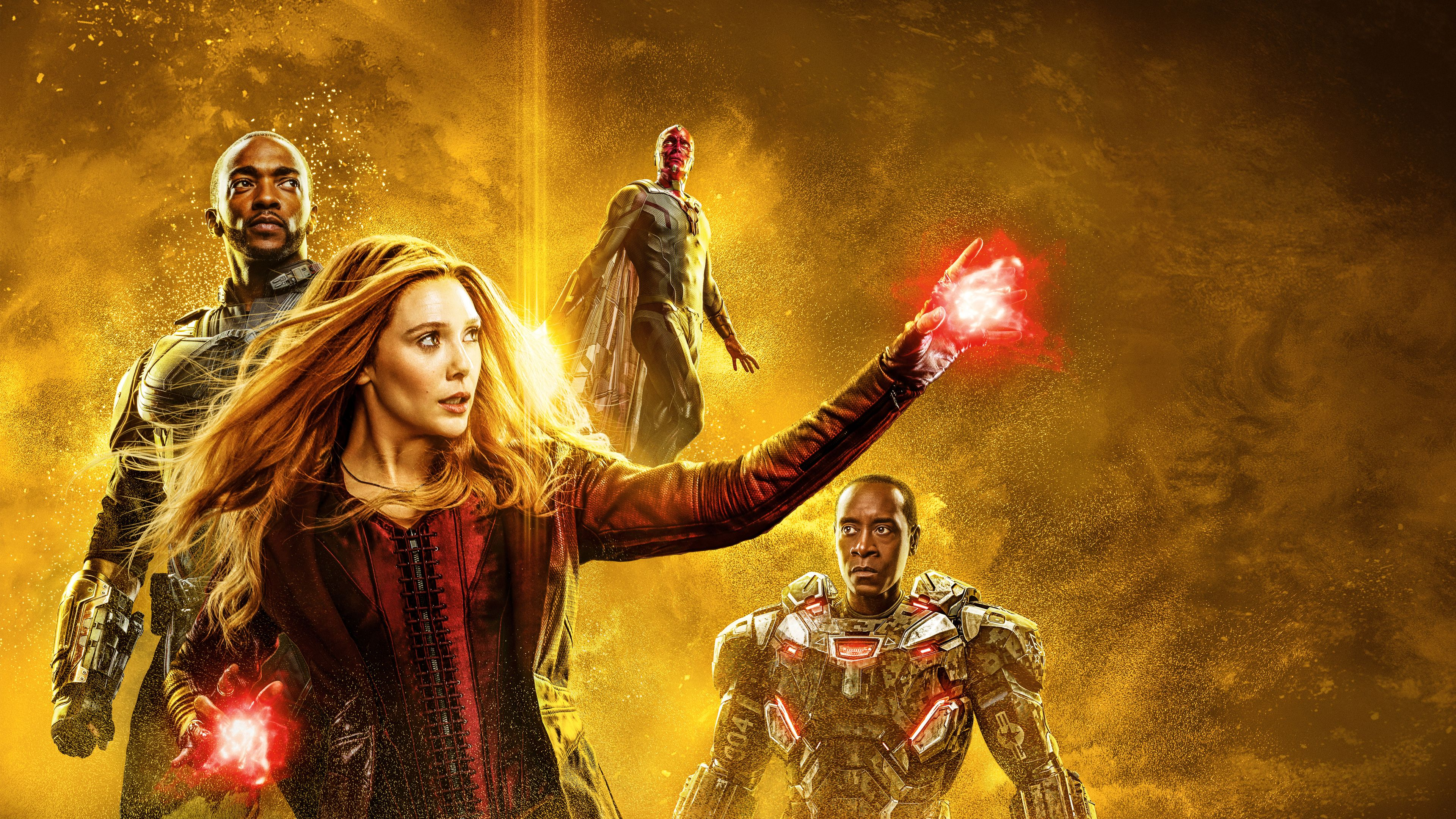 Avengers Infinity War Mind Stone Poster 4k War Machine Wallpapers Wanda Maximoff Wallpapers Vision W Scarlet Witch Marvel Scarlet Witch Avengers Infinity War